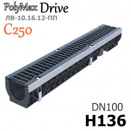 Лоток PolyMax Drive ЛВ-10.16.12-ПП с РВ щель ВЧ кл. C (к-т)