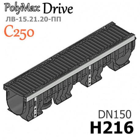 Лоток PolyMax Drive ЛВ-15.21.20-ПП В с РВ щель ВЧ кл. C (к-т)