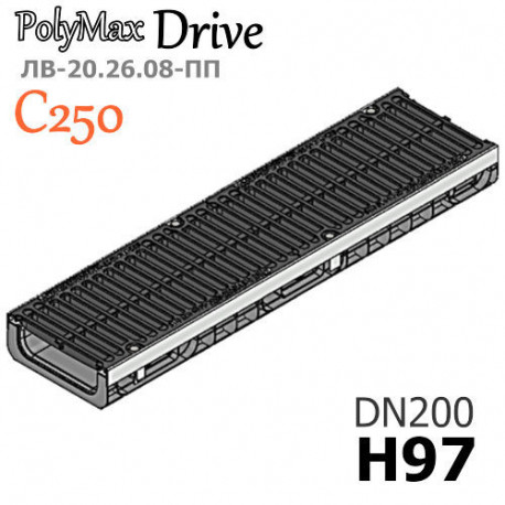 Лоток PolyMax Drive ЛВ-20.26.08-ПП с РВ щель ВЧ кл. C (к-т)