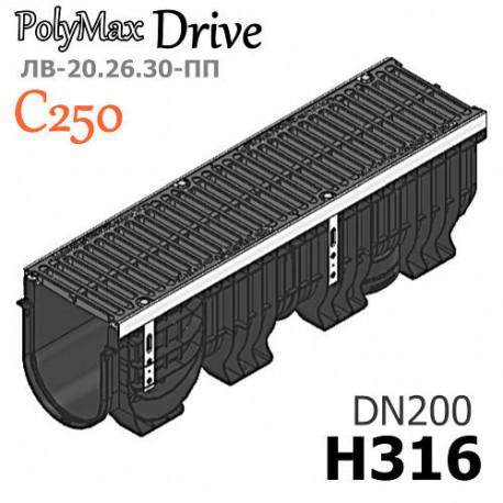 Лоток PolyMax Drive ЛВ-20.26.30-ПП с РВ щель ВЧ кл. C (к-т)