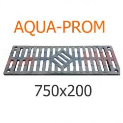 Чугунная решетка 750х200 AQUA-PROM