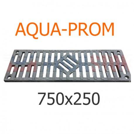 Чугунная решетка 750х250 AQUA-PROM