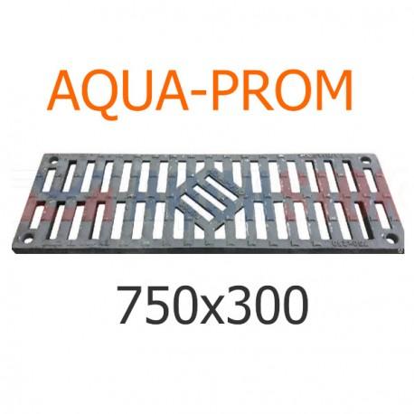Чугунная решетка 750х300 AQUA-PROM