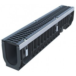 Лоток водоотводный пластиковый PolyMax Drive DN100 H216