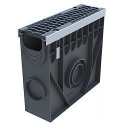 Пескоуловитель PolyMax Drive DN100 пластиковый усиленный с чугунной решеткой (комплект)