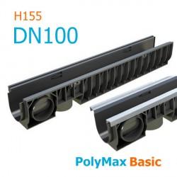 Лоток PolyMax Basic DN100 H155 - водоотводный пластиковый