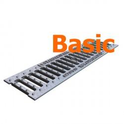 Оцинкованная решетка водоприемная Basic DN100 чугунная (щелевая)