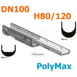 Переходник пластиковый DN100 H80 - Н120 (PolyMax Basic)