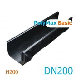 Лоток PolyMax Basic DN200 H200 - водоотводный пластиковый