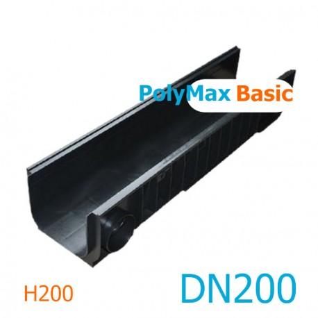 Лоток водоотводный PolyMax Basic ЛВ-20.26.20-ПП пластиковый 8540