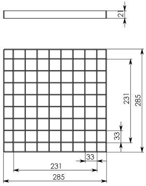Решётка водоприёмная РВ-28,5.28,5 ячеистая стальная оцинкованная, кл. В125