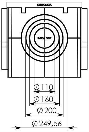 Дождеприемник Gidrolica Point ДП-40.40 пластиковый