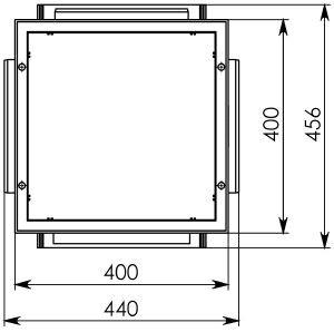 Дождеприемник ДП-40.40 пластиковый