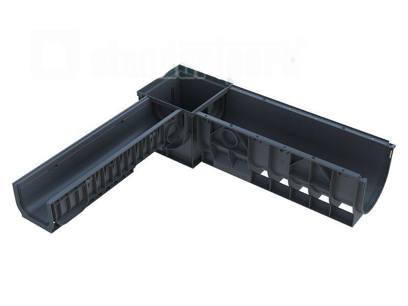 Соединение лотков и дождеприемника PolyMax Basic 400х400