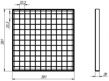 Решетка водоприемная Basic РВ-39.39 ячеистая стальная оцинкованная 34201
