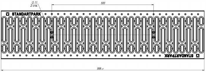 Решетка водоприемная Basic РВ-20.24.100 штампованная стальная оцинкованная 2510