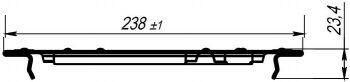 Решетка водоприемная РВ-20.24.100 штампованная стальная оцинкованная 2510