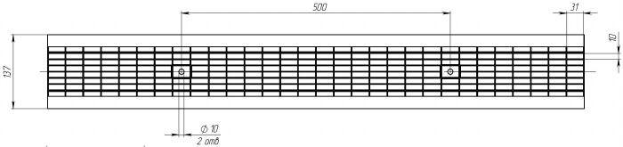 Решетка водоприемная РВ-10.14.100 стальная ячеистая (оцинкованная), кл. B125