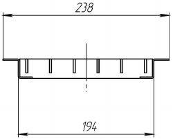 Решетка водоприемная РВ-20.24.100 стальная ячеистая (оцинкованная), кл. B125