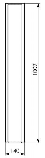 Схема 2: Бетонный лоток DN100 H125