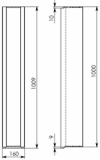 Схема 2: Бетонный лоток DN100 H160