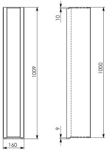 Схема 2: Бетонный лоток DN100 H182