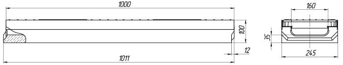 Схема: лоток Maxi ЛВ-16.25.10 бетонный (Паркинг)