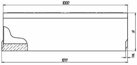 Общая схема бетонных лотков Maxi с сечением 160 мм.