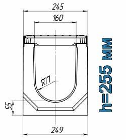 Схема: лоток Maxi ЛВ-16.25.26 бетонный