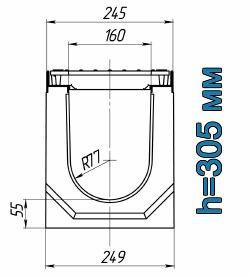 Схема: лоток Maxi ЛВ-16.25.31 бетонный