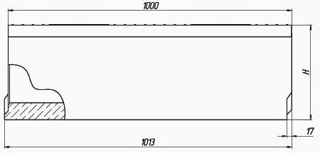 Чертеж: лоток BetoMax DN200 H335