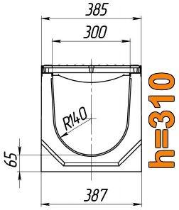 Схема: лоток Maxi ЛВ-30.38.31