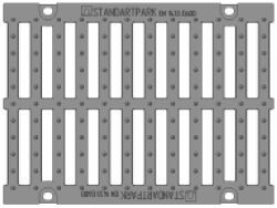 Решетка для лотка Maxi ЛВ-30.38.31, кл. D (щелевая)