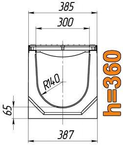 Схема: лоток Maxi ЛВ-30.38.36