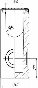 Схема: пескоуловитель Maxi DN160 бетонный