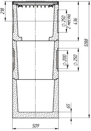 Схема дождеприемного колодца BetoMax DN300