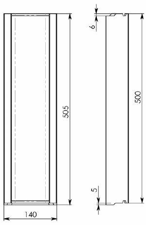 Схема 1: Бетонный лоток BGF DN100, h 60, ширина 140