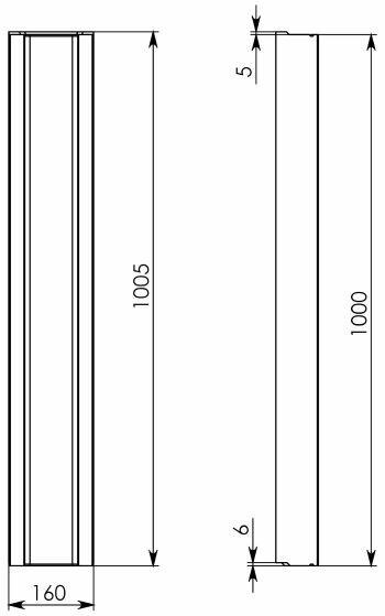 Схема 1: Бетонный лоток BGF DN100, h 80, без уклона
