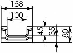 Схема 2: BGF Мелкосидящий лоток DN100, h 80, без уклона