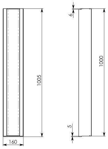 Схема 1: Бетонный лоток BGF DN100, h 100, без уклона