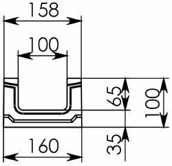 Схема 2: BGF Мелкосидящий лоток DN100, h 100, без уклона