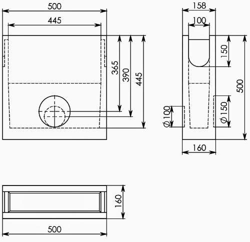 Схема: BGU Пескоуловитель DN100, 500/158/500 (бетонный)