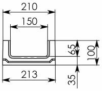 Схема 1: Бетонный лоток BGF DN150, h 100, без уклона