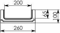 Схема 1: Бетонный лоток BGF DN200, h 100, без уклона