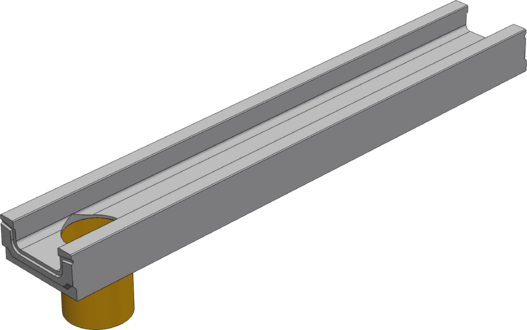 BGF лотки с вертикальным водосливом