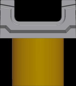 Вид спереди: BGF лоток с вертикальным водосливом