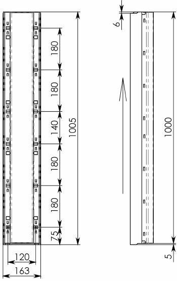 Схема 2:BGF-Z Мелкосидящий лоток DN100, h 100, без уклона