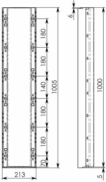 Схема 2: BGF-Z Мелкосидящий лоток DN150, с оцинкованной насадкой, h 100, без уклона