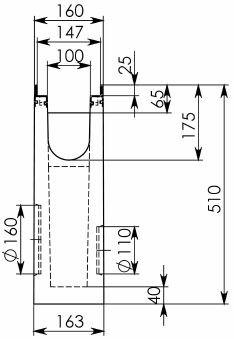 Схема 2: Пескоуловитель BGU-Z DN100