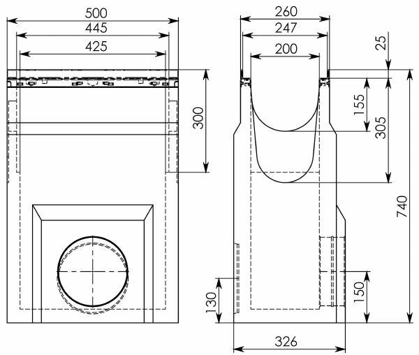 Схема 1: Пескоуловитель BGU-Z DN200
